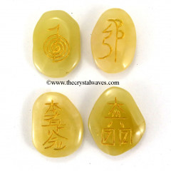 Yellow Aventurine  Engraved Usui Reiki Set