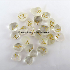 Crystal Quartz Tumbled Rune Sets
