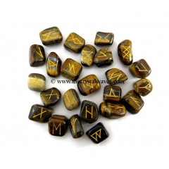 Tiger Eye Agate Tumbled Rune Sets