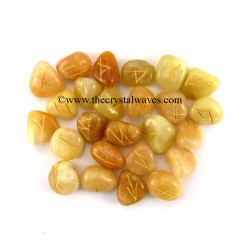 Yellow Aventurine Tumbled Rune Sets