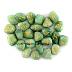 Green Aventurine Tumbled Rune Sets