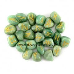 Green Aventurine Tumbled Rune Sets