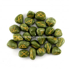 Grass Jasper Tumbled Rune Sets