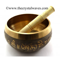 5 Inch Brass Copper Finish Singing Bowl
