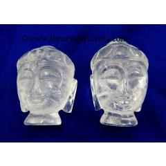 Crystal Quartz Buddha Head
