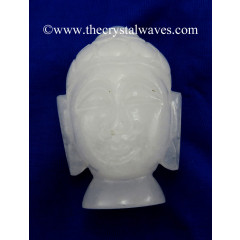 White Quartz Buddha Head