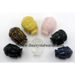 Mix Assorted Gemstones Small Buddha Head