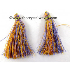 Orange & Violet Color Tassels