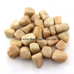 Peach Moonstone Tumbled Nuggets