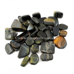Blue Tiger Eye Agate Tumbled Nuggets