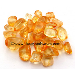 Tangerine Aura Dyed Crystal Quartz A Grade Tumbled Nuggets