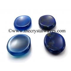 Blue Chalcedony Worry Stones / Thumb Stones