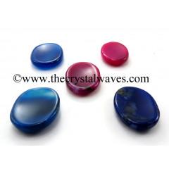 Multi Chalcedony Worry Stones / Thumb Stones