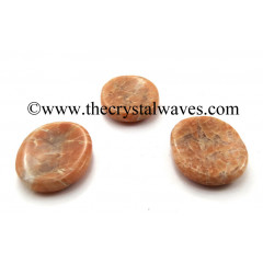 Peach Moonstone Worry Stones / Thumb Stones