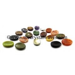 Mix Assorted Gemstones Worry Stones / Thumb Stones