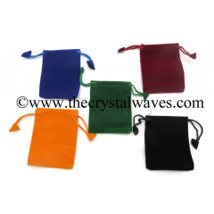 Mix Assorted Colors Velvet Pouch