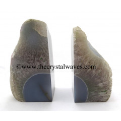 Natural Chalcedony Book Ends