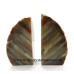 Lace Agate Book Ends