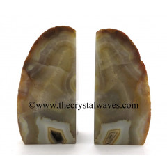 Yellow Chalcedony Large Book Ends