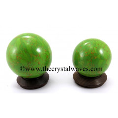 Green Turquoise W/Copper Matrix (Manmade) Ball / Sphere