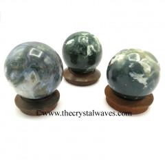 Moss Agate Ball / Sphere