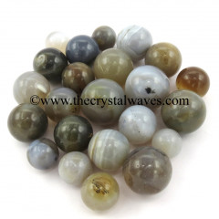Grey Khayaldar Agate Small 15 - 25 mm Ball / Sphere