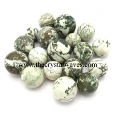 Tree Agate Small 15 - 25 mm Ball / Sphere