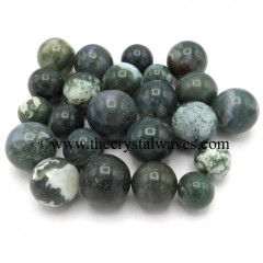 Moss Agate Small 15 - 25 mm Ball / Sphere