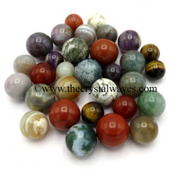 Mix Assorted Gemstone Small 15 - 25 mm Ball / Sphere