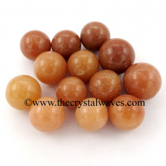 Red Aventurine Small 15 - 25 mm Ball / Sphere