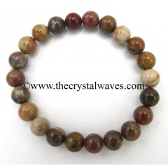 Natural African Jasper 8 mm Round Beads Bracelet