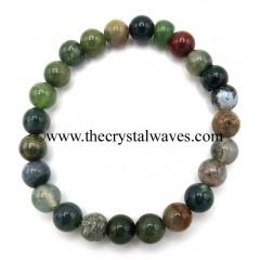 Indian Jasper 8 mm Round Beads Bracelet