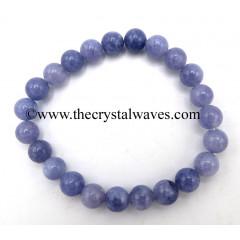 Aquamarine Natural 8 mm Round Beads Bracelet