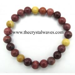 Mookite Jasper 8 mm Round Beads Bracelet