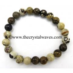Picture Jasper African 8 mm Round Beads Bracelet