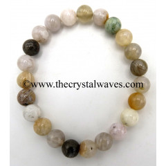 Natural Crazy Agate 8 mm Round Beads Bracelet