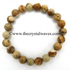 Picture Jasper 8 mm Round Beads Bracelet