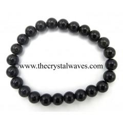 Black Obsidian 8 mm Round Beads Bracelet