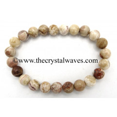 Crazy Lace Agate 8 mm Round Beads Bracelet