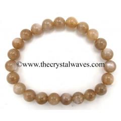 Mocha Moonstone 8 mm Round Beads Bracelet