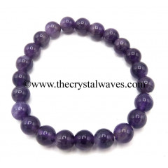 Amethyst 8 mm Round Beads Bracelet