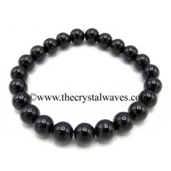 Black Tourmaline 8 mm Round Beads Bracelet