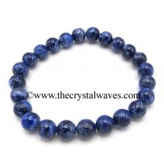 Lapis Lazuli 8 mm Round Beads Bracelet