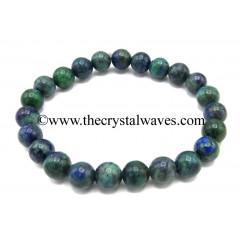 Chrysocolla 8 mm Round Beads Bracelet