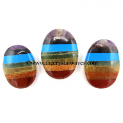 7 Chakra Bonded Oval Cabochon With Turquoise