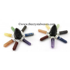 Black Obsidian Rough Point Chakra Pencil Energy Generator