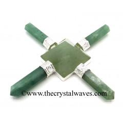 Green Aventurine Pyramid Energy Generator