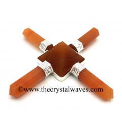 Red Aventurine Pyramid Energy Generator