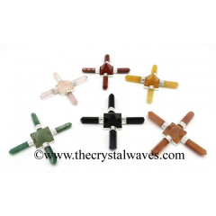Mix Assorted Gemstone Pyramid Energy Generator