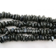Black Agate  Large Chips Graduated Strands